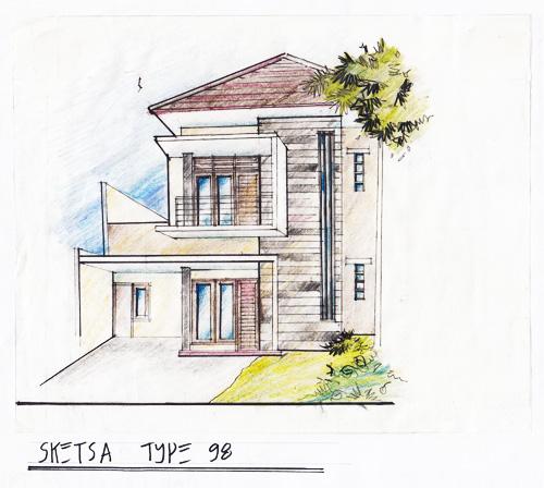 Sketsa Rumah Minimalis Type 98