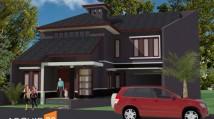 Rumah Minimalis Modern di Lahan Trapesium