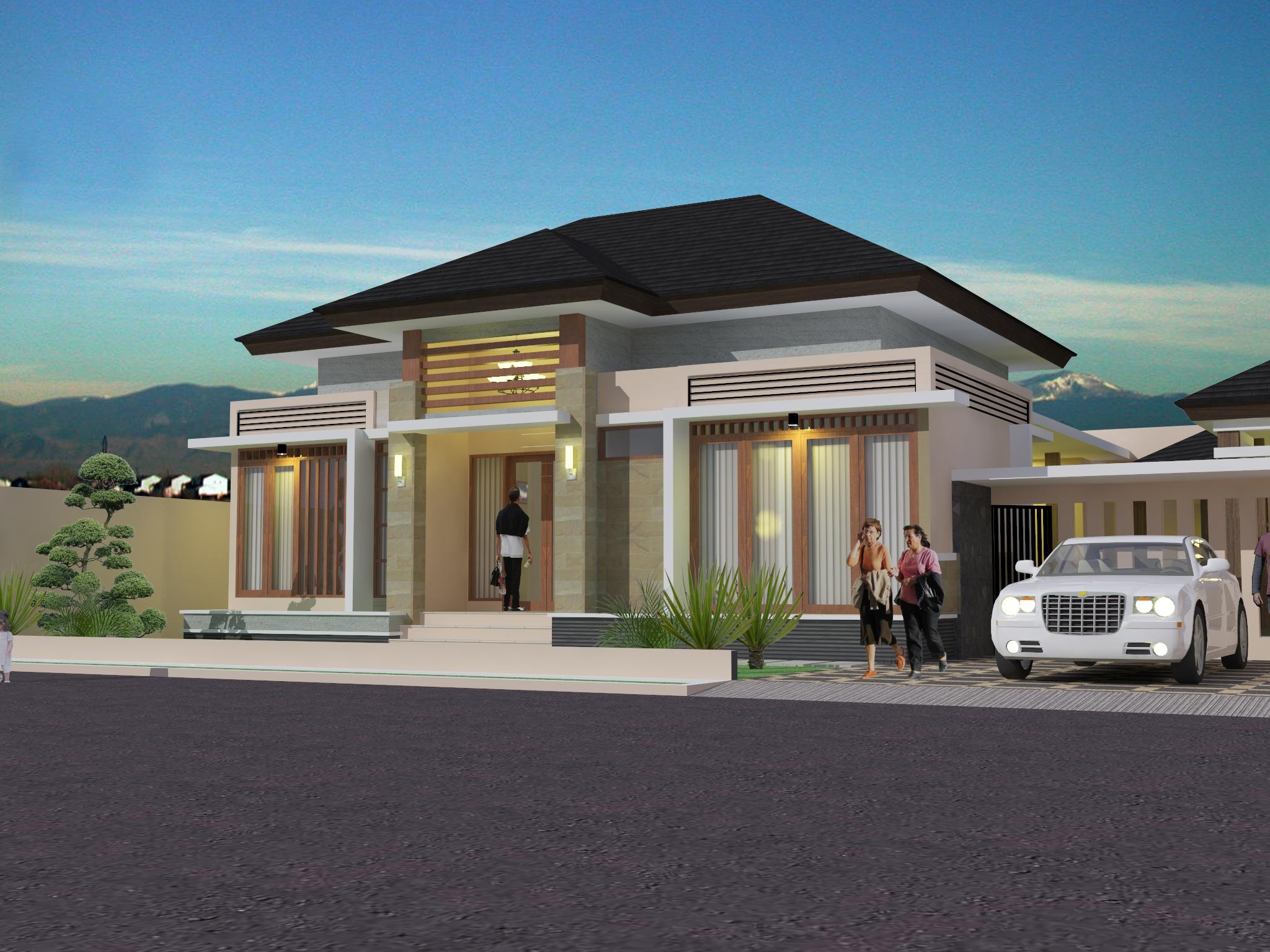 model desain batu alam untuk dinding rumah minimalis