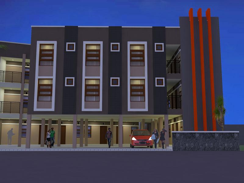 Desain Rumah Kost – Buah Batu – Bandung   ARCHIE 28 - JASA ...