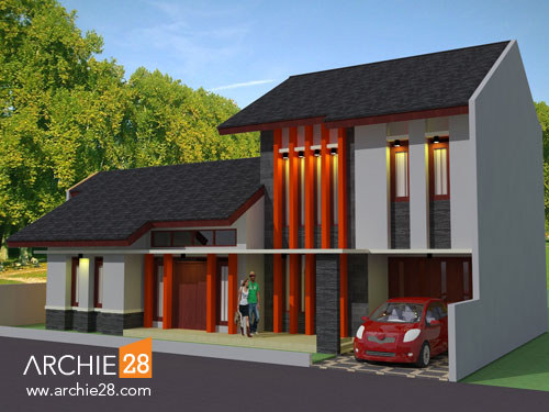 Fasade Rumah Minimalis Modern - by ARCHIE28